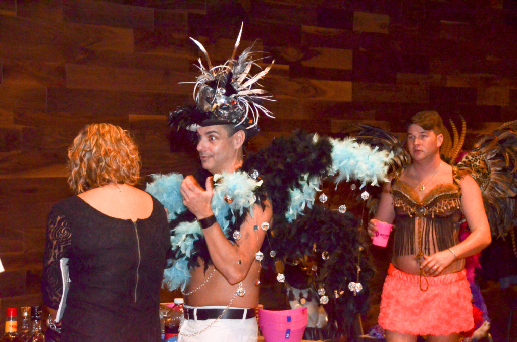 Man in costume at Bras for a Cause Gulf Coast