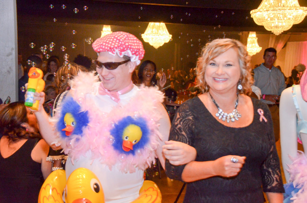 Costume couple Bras for a Cause Gulf Coast